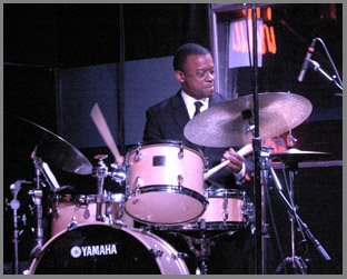 Cameron Clayton on Drumsat the Iridium NYC - Photo by Luxury Experience